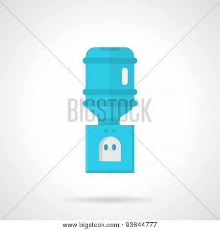 Blue electric cooler flat vector icon