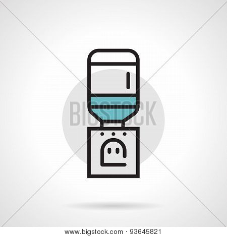 Flat line vector icon for table cooler