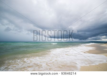Tropical Storm On Indonesian Coastline