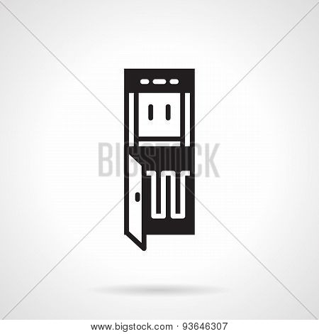 Black vector icon for water cooler