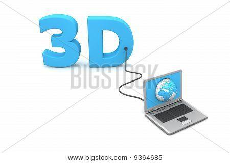 Com fio para 3D