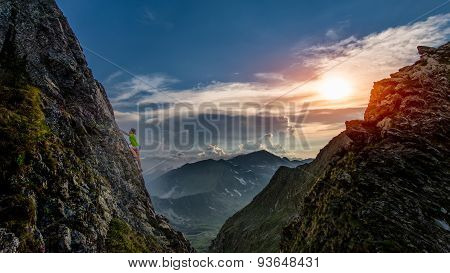 Try Climbing At Sunset In The Mountains