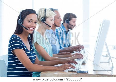 Portrait of young casual call centre workers in the office