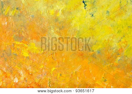 Abstract structure from paintings in impressionism style in close-up