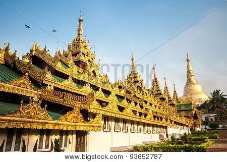 Front Building Of Shwedagon Pagoda
