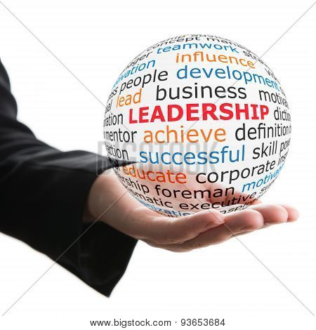 Transparent ball with inscription leadership