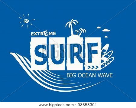 Extrime Summer Surfing, T-shirt Graphics.