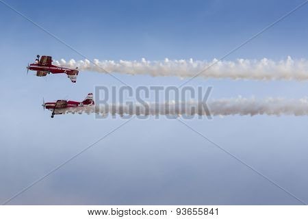 Poznan, Poland - June 14: Aerobatic Group Formation