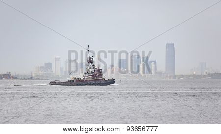 An image of a tug boat New York