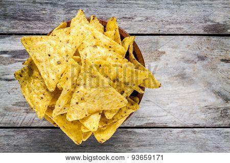 Nachos Corn Chips In A Bowl