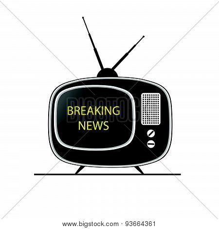 Breaking News Tv Vector
