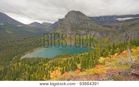 Colorful Mountain Valley In The Fall