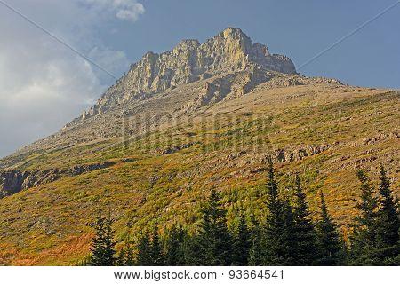 Lone Mountain Peak In The Fall