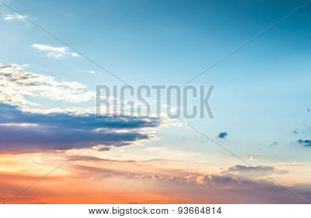 Beautiful sunset sky and clouds