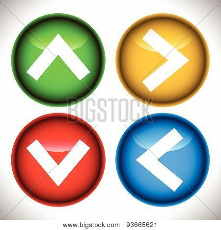 Set Of Arrow Buttons, Arrow Icon. Vector Graphics.