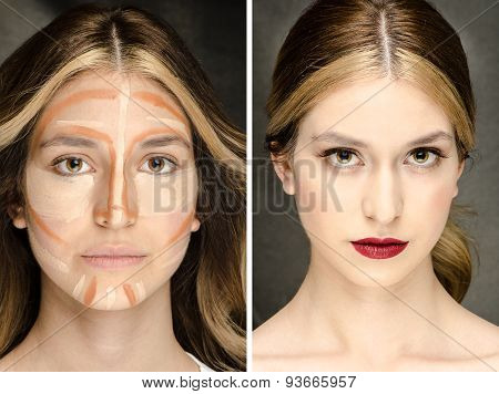 The Secret  of Makeup - Before- After