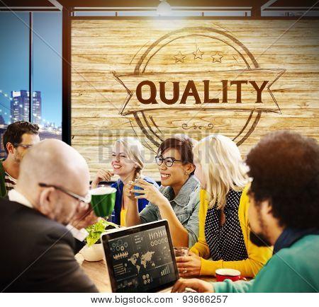 Quality Satisfaction Grade Guarantee Rank Concept
