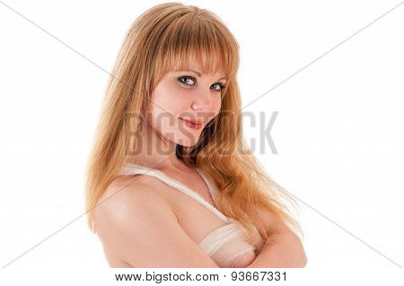 portrait sexy woman in bandages