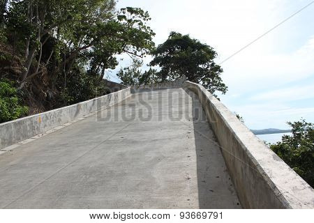Concrete Road With Large Borders