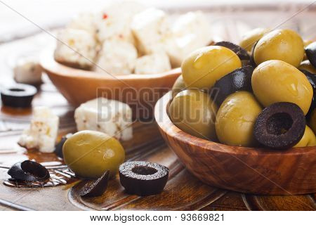 Fresh green olives
