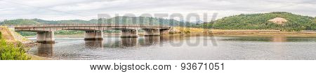Road Bridge Over Knysna Lagoon Panorama
