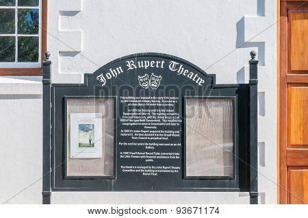 John Rupert Theatre In Graaff Reinet