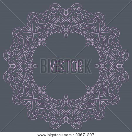 abstract hipster line art frame
