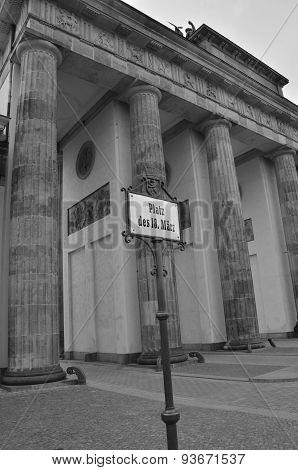 West Side of Brandenburg Gate
