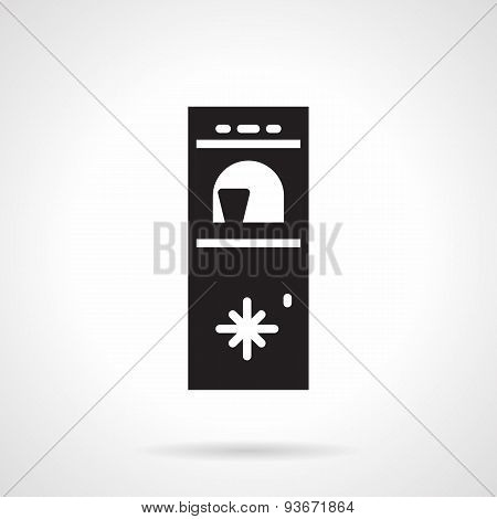 Water cooler black vector icon