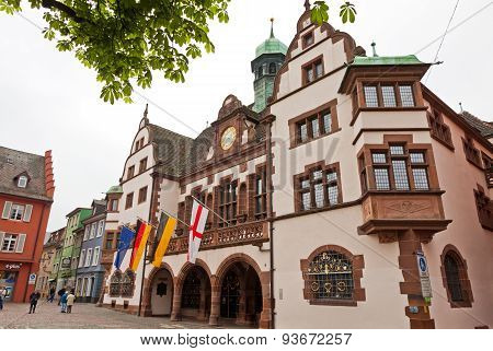 Rathausplatz (town Hall Square) In Freiburg Im Breisgau, Germany