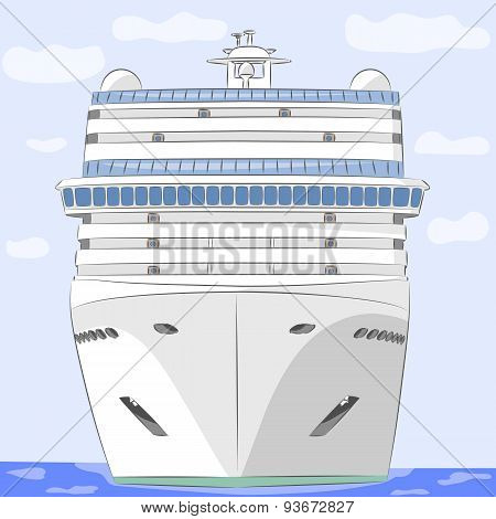 Vector. Cruise Ship.