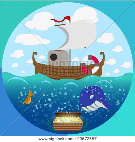 Sea theme circle set