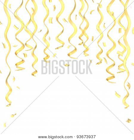 Confetti and serpentine composition isolated