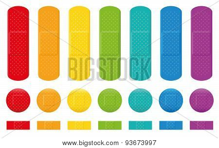 Plasters Colors Adhesive Bandage Collection
