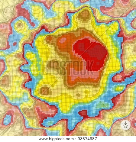 Abstract landscape background. Mosaic. 3d technology vector illustration. Can be used for banner, flyer, book cover, poster, web banners.
