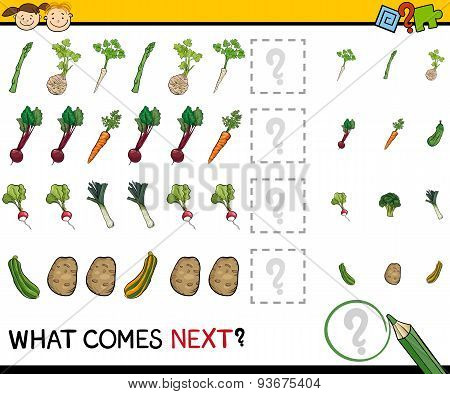 Education Game with Vegetables