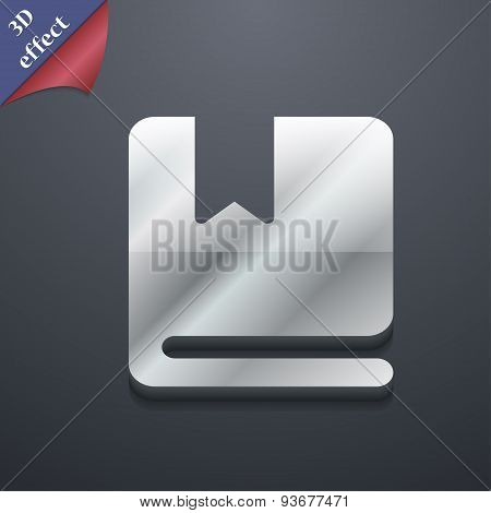 Bookmark Icon Symbol. 3D Style. Trendy, Modern Design With Space For Your Text Vector
