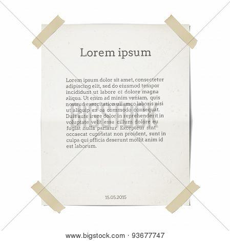 Paper sheet template.