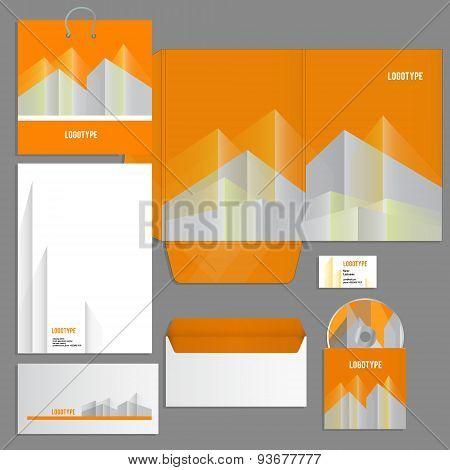 Gray corporate identity template