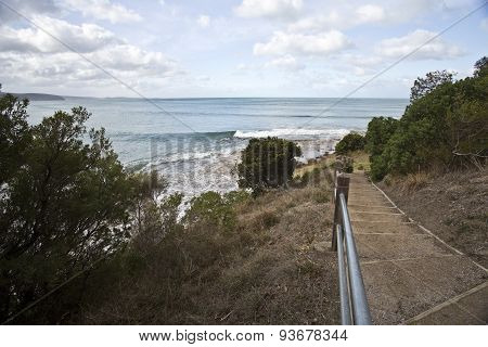 Staircase To The Beach In Victoria