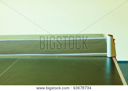 Closeup Tennis Table With Net