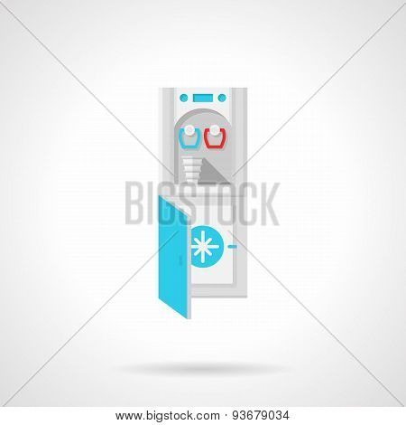 Water cooler flat vector icon