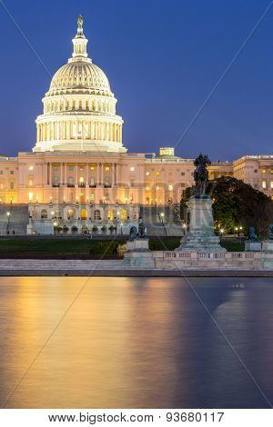 US Capitol Building at dusk, Washington DC, USA