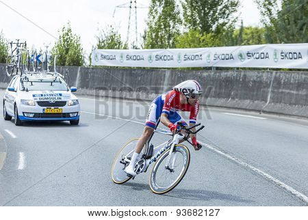 The Cyclist Tom Dumoulin - Tour De France 2014