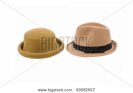 Two hat isolated on white