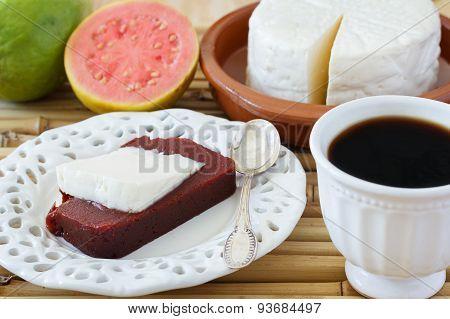 Dessert Romeo And Juliet, Goiabada, Minas Cheese, Coffee