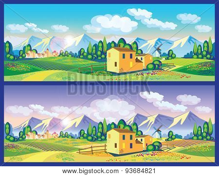 Countryside In The Spring And Summer