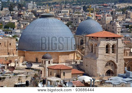 Holy Sepulchre Church In Old City Of Jerusalem, Israel