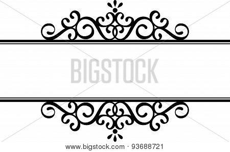 decorative vignette silhouette