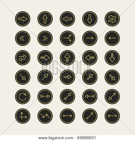 Elegant Arrow Icons Design Set